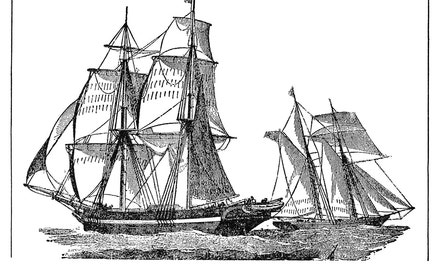 Full-rigged Brig of 1843