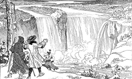 Father Hennepin At Niagara Falls