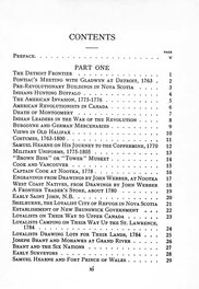The Picture Gallery of Canadian History Vol. 2 (Table of Contents)